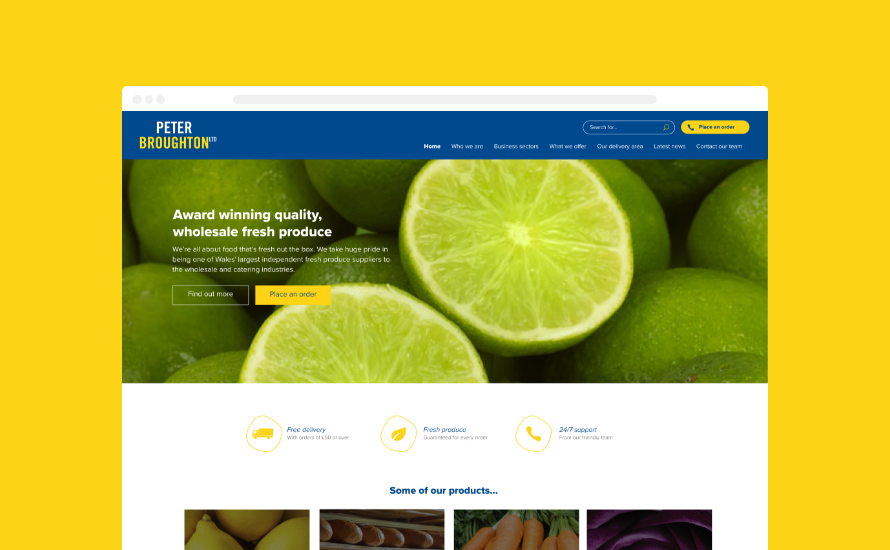 Peter Broughton's website design Cardiff